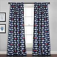 Race Car Curtain Panel Set, 84 in.