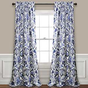 Blue Cynthia Curtain Panel Set, 84 in.