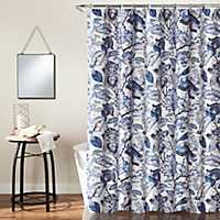 Cynthia Jacobean Blue Shower Curtain