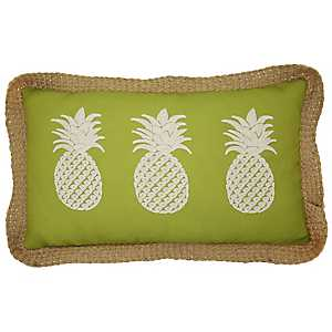 Green Triple Pineapple Outdoor Accent Pillow