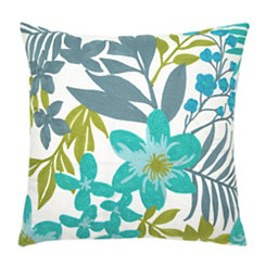 Embroidered Floral Debora Outdoor Pillow