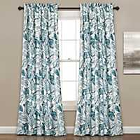 Teal Cynthia Curtain Panel Set, 84 in.