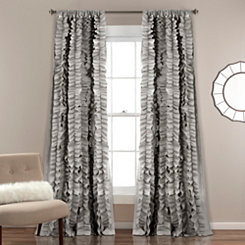 Gray Belle Curtain Panel, 84 in.