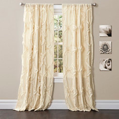 Ivory Avon Curtain Panel, 95 in.