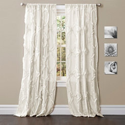 White Avon Curtain Panel, 95 in.