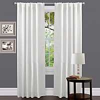 Venetian White Curtain Panel, 84 in.