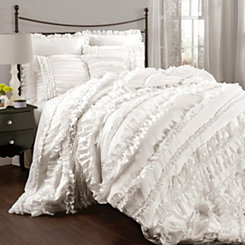 White Belle 4-pc. Queen Comforter Set