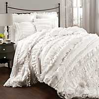 White Belle 4-pc. King Comforter Set