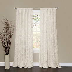 Lake Como Ivory Pintuck Curtain Panel, 84 in.