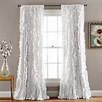 White Belle Curtain Panel, 84 in.
