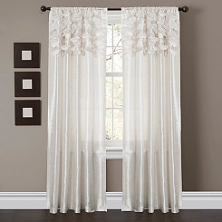 White Dream Circle Curtain Panel Set, 84 in.