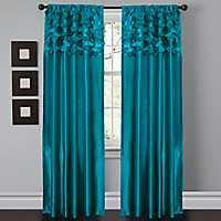 Turquoise Dream Circle Curtain Panel Set, 84 in.