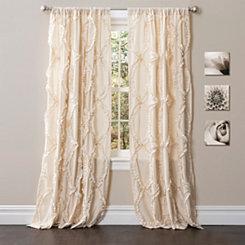 Ivory Avon Curtain Panel, 84 in.