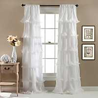 White Nerina Curtain Panel, 84 in.