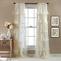 Ivory Nerina Curtain Panel, 84 in.