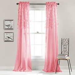 Pink Avery Curtain Panel Set, 84 in.