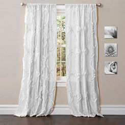White Avon Curtain Panel, 84 in.