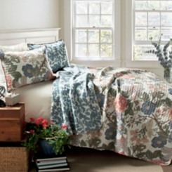 Blue and Green Sydney 3-pc. King Quilt Set