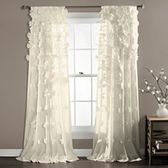 Ivory Riley Curtain Panel, 84 in.