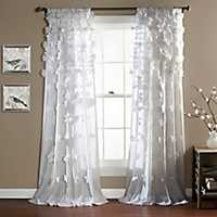 White Riley Curtain Panel, 84 in.