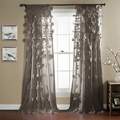 Gray Riley Curtain Panel, 84 in.
