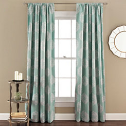 Blue Sophie Blackout Curtain Panel Set, 84 in.