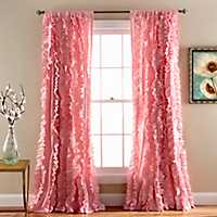 Pink Belle Curtain Panel, 84 in.