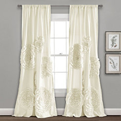 Ivory Serena Curtain Panel, 84 in.