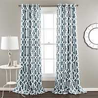 Edward Blue Curtain Panel Set, 84 in.