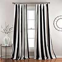 Black Wilbur Curtain Panel Set, 84 in.