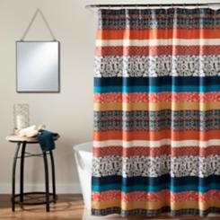 Boho Stripe Shower Curtain