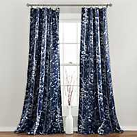 Navy Forest Curtain Panel Set, 84 in.