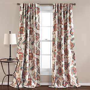 Ivory Aster Curtain Panel Set, 84 in.