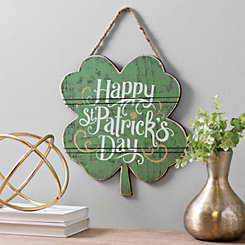 Wooden Shamrock Wall Hanger
