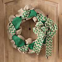 Burlap Tan and Green St. Patrick's Day Wreath