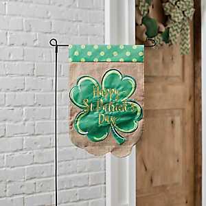 Happy St. Patrick's Day Clover Flag Set