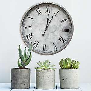 Gaston Metal Wall Clock