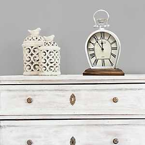 Figaro Metal Tabletop Clock