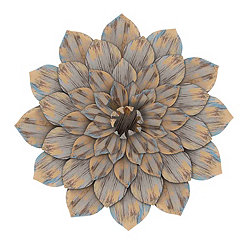 Distressed Dahlia Flower Wall Plaque