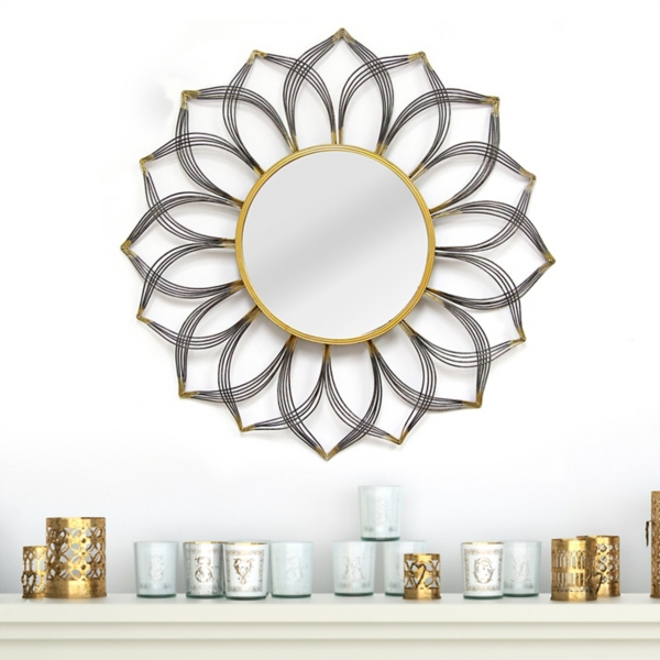 decorative mirrors decorative wall mirror by paragon quot round ornate silver quot home goods oval mirrors