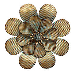 Primrose Flower Metal Wall Plaque