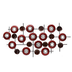 Mirrored Circles Geometric Metal Wall Plaque