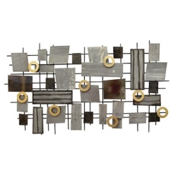 Industrial Mosaic Metal Wall Plaque