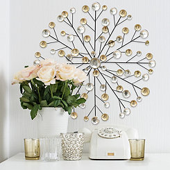 Metallic Burst Wall Plaque
