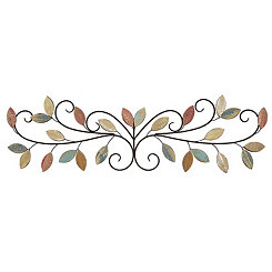 Wooden Leaves Wall Plaque