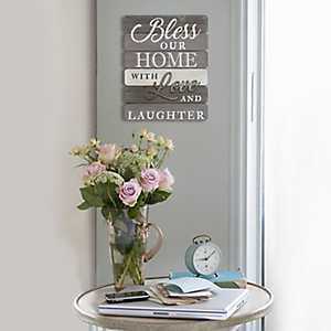 Bless Our Home with Love and Laughter Wall Plaque
