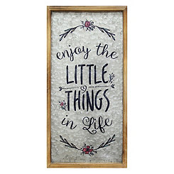 Enjoy the Little Things in Life Wall Plaque