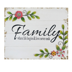 Floral Family Wall Plaque