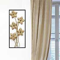 Gold Lattice Flower Panel Wall Plaque
