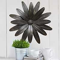 Industrial Flower Metal Wall Plaque